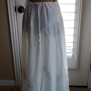 Gap White Cotton Maxi Skirt